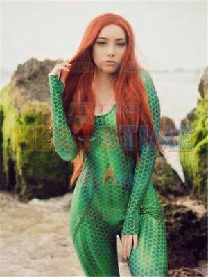 Mera Costume (Quinn Mera Cosplay Costume 3D Printing Spandex Female)