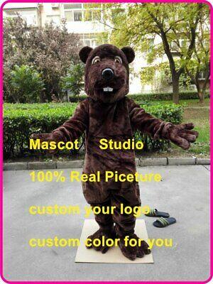 Masquerade Christmas Adult Beaver Mascot Costumes Cartoon Apparel Birthday Party](Adult Beaver Costume)