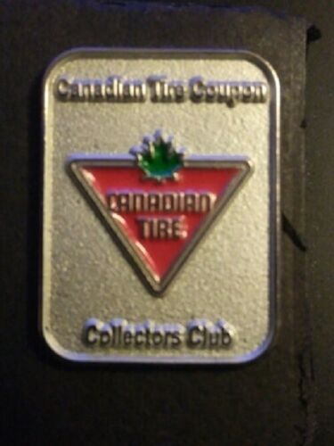RARE ~ Canada Canadian Tire Coupon Money Collectors Silver Lapel Hat Pin