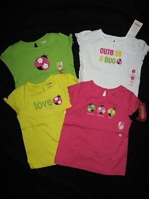 Gymboree PRETTY LADY Pink Green Yellow Ladybug Baby TOP
