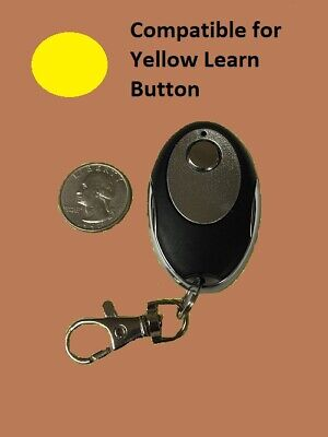 Liftmaster Garage Door Opener Key Chain Remote Transmitter Yellow Learn Button  ()