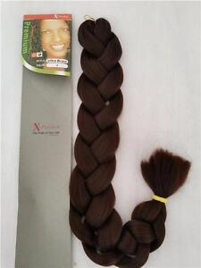 Kanekalon Synthetic Jumbo braiding Hair Xpression premium #4 (Medium brown)... HUGE LIQUIDATION