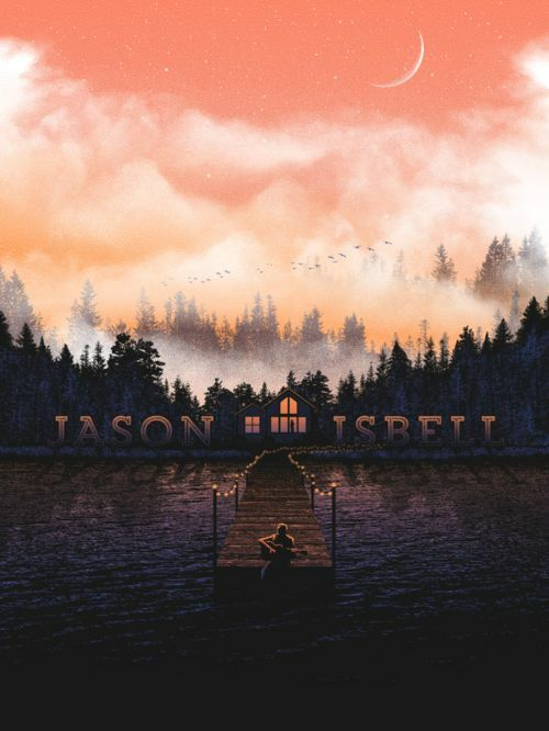 Jason Isbell Official 2015 Tour Poster Spring Variant Numbered Artist Edition