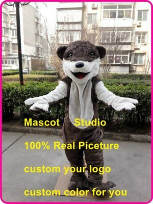 Halloween Adult Otter Mascot Costume Cosplay Party Game Dress Outfit Advertising - Halloween Otter