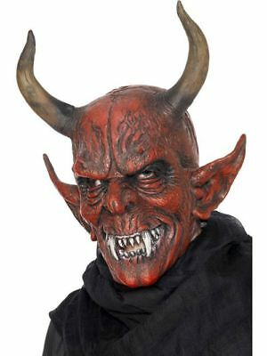 Halloween Teufel Maske Dämon Teufelsmaske Satan Vampir Karneval Kostüm Zubehör