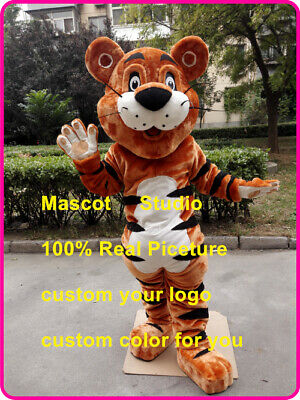 Tiger Cup Mascot Costume Suit Cosplay Party Game Dress Outfit Halloween Adult](Tiger Suit Halloween)