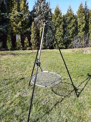 Schwenkgrill Dreibein Kurbel Höhe 200 cm Grillrost Ø 80 cm Stahl