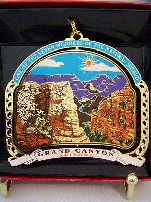 Grand Canyon Brass Christmas Ornament Arizona State Travel Souvenir Gift Momento