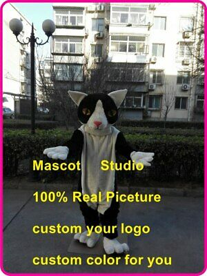 Cat Mascot Costume Cosplay Party Dress Outfit Advertising Halloween Adult Hot - Hot Cat Halloween Outfit