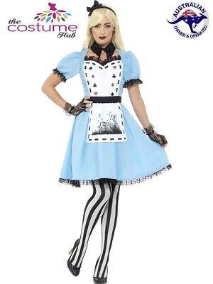 Deluxe Tea Party Alice in Wonderland Halloween Fairytale Dress Up Costume
