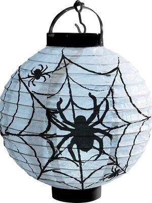 Halloween ILLUMINARE LED Carta ragnatela lanterna bianco & NERO FANTASTICO - Lanternas Halloween