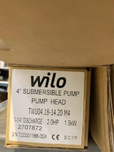 "Wilo Submersible Pump, 4"" 2HP, 18GPM - 2707872"