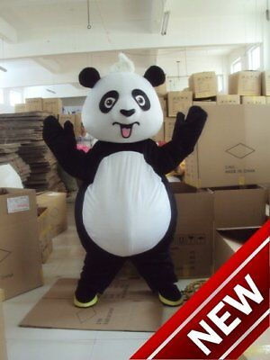 Panda Halloween Outfits (Halloween China Panda Mascot Costume Suits Cosplay Party Game Outfits Adult)