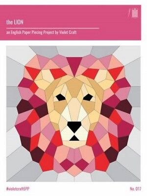 Free Quilt Paper Piecing (   Violet Craft - The LION VC017 English Paper Piecing Pattern FREE US)