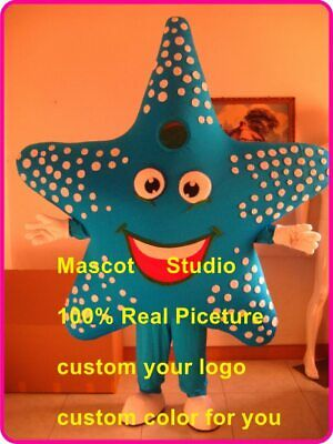 Star Fish Costume (Star Fish Mascot Costume Suit Cosplay Outfit Halloween Adult Party Game)