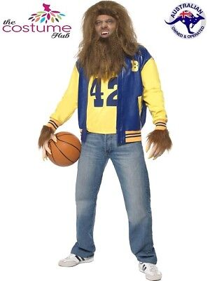 Licensed Mens Teen Wolf 1980s Movie Fancy Dress Costume Halloween Werewolf](Teen Movie Costumes)
