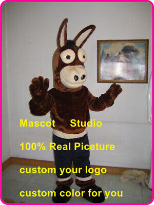 Mule Costume (Black Mule Mascot Costume Suit Cosplay Party Game Dress Outfit Halloween)