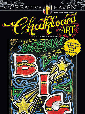 Creative Haven Chalkboard Art Adult Coloring Book