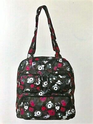 New Lug Puddle Jumper PACKABLE Carryall Overnight Gym  Bag WATER BLACK Floral