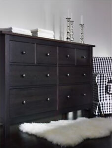 IKEA Hemnes 8 Drawer Dresser - black/brown