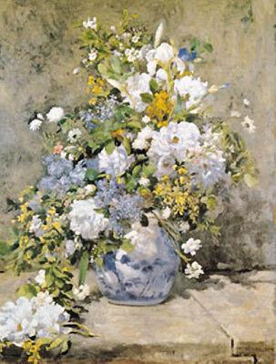 Spring Bouquet by Pierre-Auguste Renoir Flowers Classic Art Vintage Repro Poster