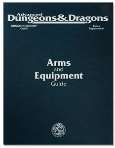 Advanced Dungeon & Dragons Arms and Equipment Guide 2nd edition