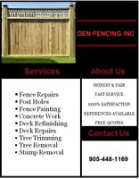 Fencing Repairs Or New Fencing