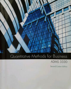 Quantitative Methods for Business - Second Custom Ed. Adms 3330