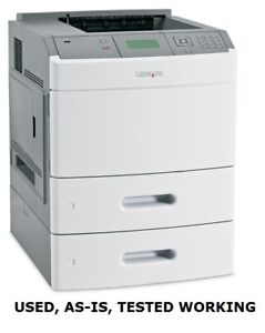LEXMARK T654n - MONOCHROME LASER WORKGROUP PRINTER - USED, AS-IS