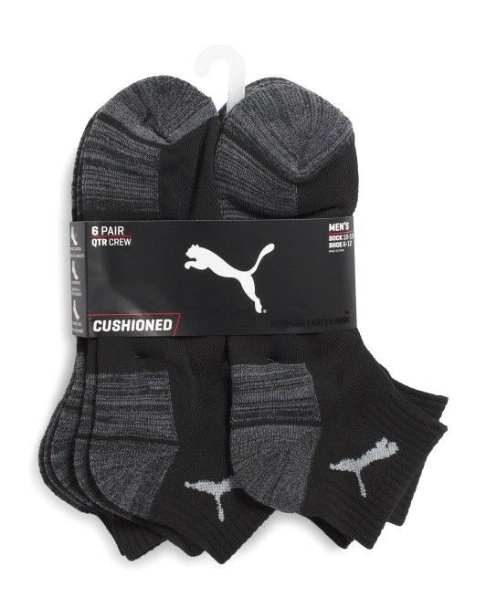 5ba69a8db6d9 Носки для мужчины PUMA Men s Quarter Cut Black Socks Sports Cushioned 6  Pairs Sz L 10-13  18 NWT - 332729770939 - купить на eBay.com (США) с  доставкой в ...