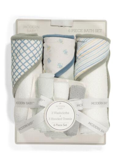 Modern Baby 6 Piece Hooded Towel & Washcloth Set