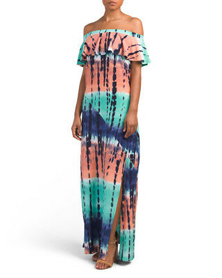 - Derek Heart Tie Dye High Slit plus size maxi dress Size 1X~NEW