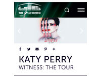 KATY PERRY GLASGOW - STANDING - 2 TICKETS