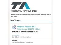 Selling one saturday wireless ticket