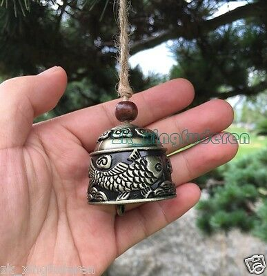 Excellent Chinese metal carp fish bell aeolian bells Lucky fengshui hang design
