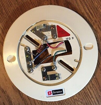 Simplex 2098-9637 Fire Alarm Smoke Detector Base With Module