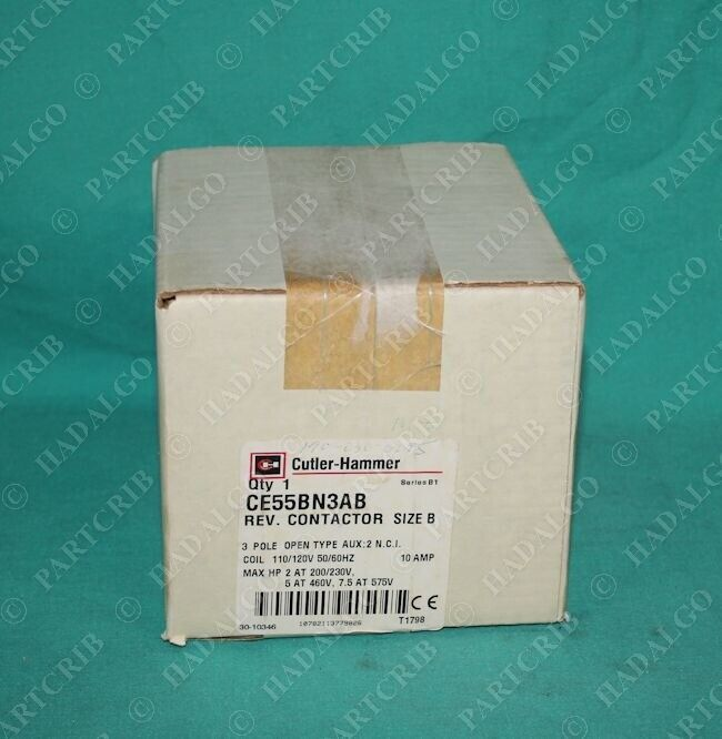 Cutler Hammer, CE55BN3AB, Contactor 3Pole 10Amp