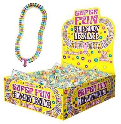 Penis Candy Necklace Bachelorette Party Favors & Decorations 24 PC