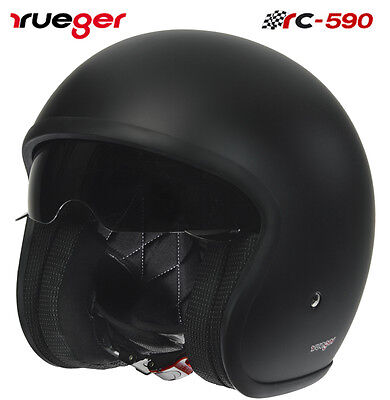 Jet Motorrad Roller Harley Helm Bobber Chopper Caferacer Custom Scrambler Vespa ()