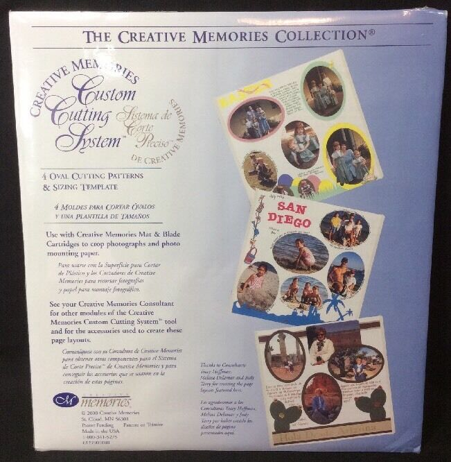 CREATIVE MEMORIES Oval Custom Cutting System Patterns & Sizing Template NEW