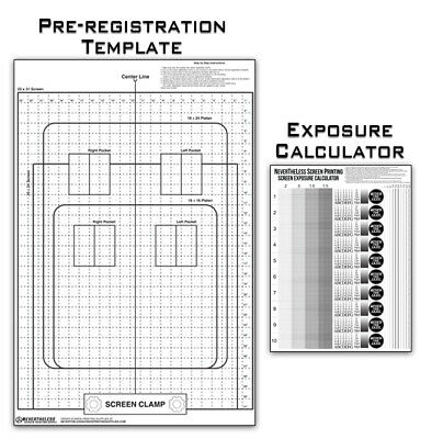 Pre-registration Template Transparency Exposure Calculator Screen Printing