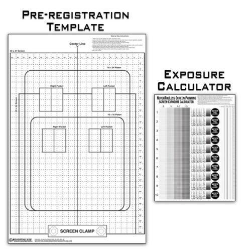 Pre-Registration Template Transparency & Exposure Calculator  Screen Printing