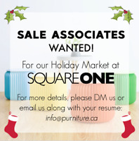 SALES ASSOCIATES FOR A HOLIDAY MARKET AT SQUARE ONE