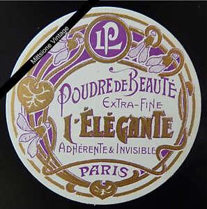 French-Perfume-Label-Antique-Circa-1910-Poudre-De-Beaute-Lorenzy-Palanca