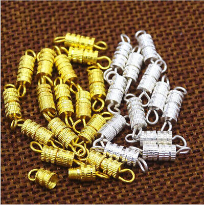 New Necklace Clasps 4X15MM-Barrel Screw Type Clasp Perfect Jewelry Making  Hooks
