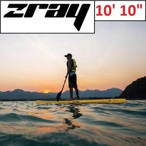 """NEW ZRAY INFLATABLE PADDLE BOARD 37332 189410089 STAND UP YELLOW 10'10"""""""