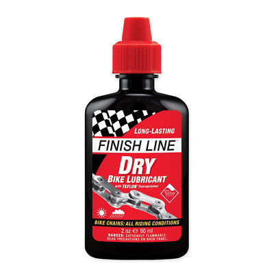 New Finish Line Teflon Plus Bike Dry Lubricant Lube Oil For Bicycle Chain 60Ml
