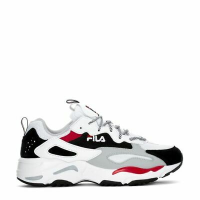 Fila  Men's Ray Tracer Shoes NEW AUTHENTIC White/Black/Red 1RM00586-102