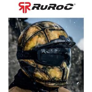 NEW RUROC SNOWBOARD HELMET MED/LG RG1-DX 218613344 WITH GOGGLES RG-1 FORGE 57-60CM SNOW SPORTS SAFETY EQUIPMENT