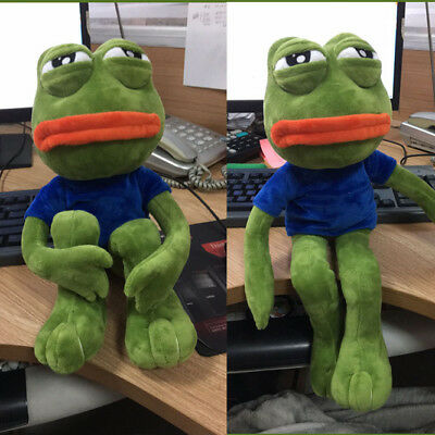 Pepe The Frog Sad Frog Plush 4chan Kekistan Meme Doll Stuffed Animal Gift 18""